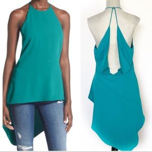 ASTER Sexy Teal Open Back Hi Low Top SZ Large
